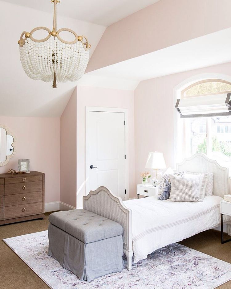 "Bedroom Colours Pink Master Bedroom Paint Ideas 2015 Anime Bedroom Eyes Bedroom Ideas Cream Carpet: This Room Is As Sweet As The Paint Color -- ""Melted Ice"