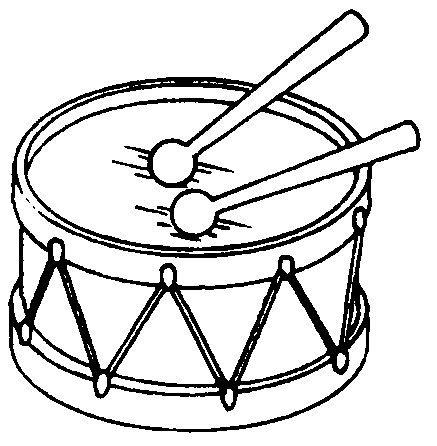 Resultado de imagen de tambor para colorear