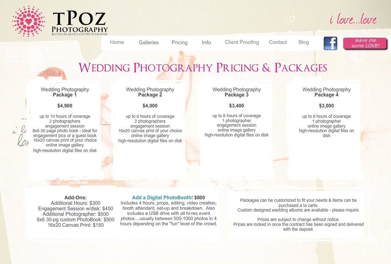 Wedding Photography Prices 5 Free Wedding Photography Packages Templates In 2020 Wedding Photography Pricing Wedding Photographer Prices Wedding Photographer Cost