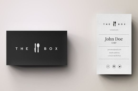Chef Minimal Logo and Business Card   Pinterest