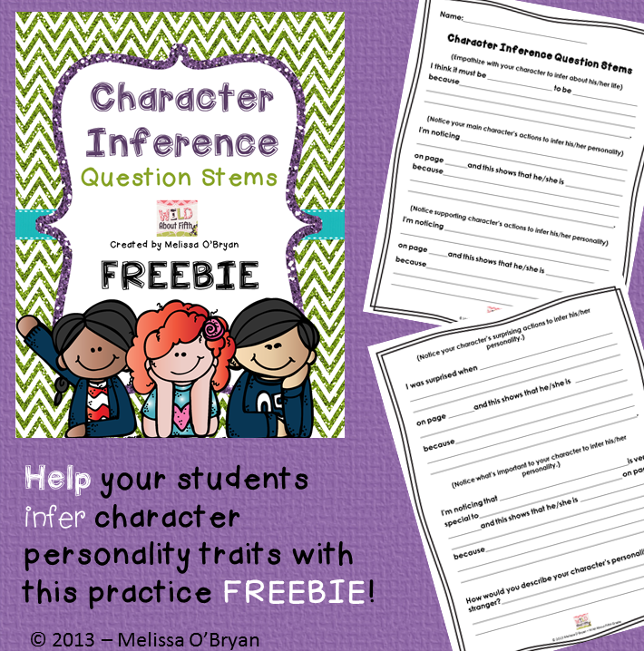 Wild about fifth grade: Reader's Workshop - Inferencing Character's Personalities