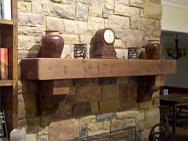 Rustic Fireplace Mantels - Google Search