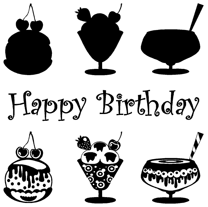 Happy Birthday Food Beverage Custom Decals For Home Office Or - Custom vinyl decals kelowna