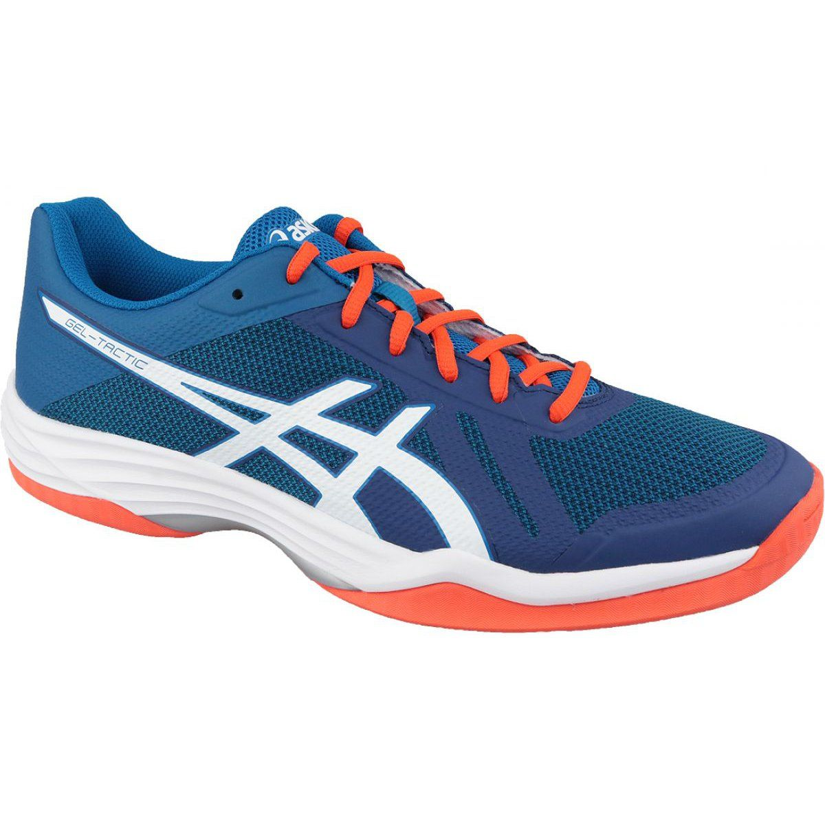 Volleyball Shoes Asics Gel Tactic M B702n 401 Blue Navy Blue Volleyball Shoes Asics Volleyball