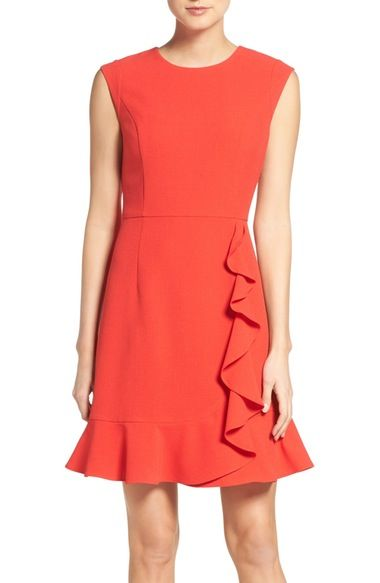 2d0f1a09bb Vince Camuto Ruffled Crepe Flounce Hem Dress available at  Nordstrom Womens Cocktail  Dresses