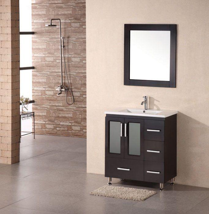 Design Element Stanton 30Inch Espresso Dropin Sink Bathroom Fair Bathroom Vanity 30 Inch Decorating Design