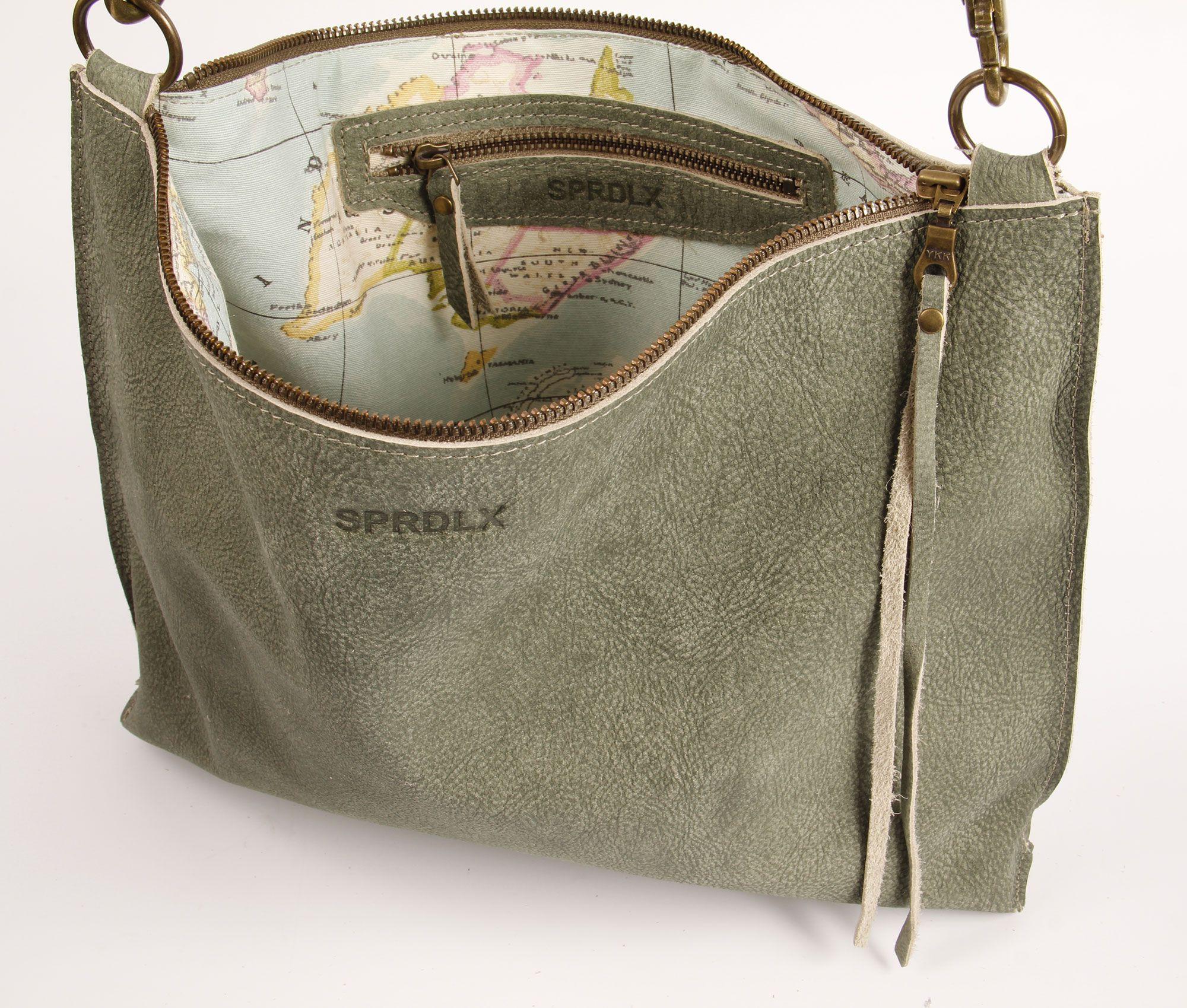Handgemaakte Vilten Tas : Leren schouder tas crossbody leather sprdlx