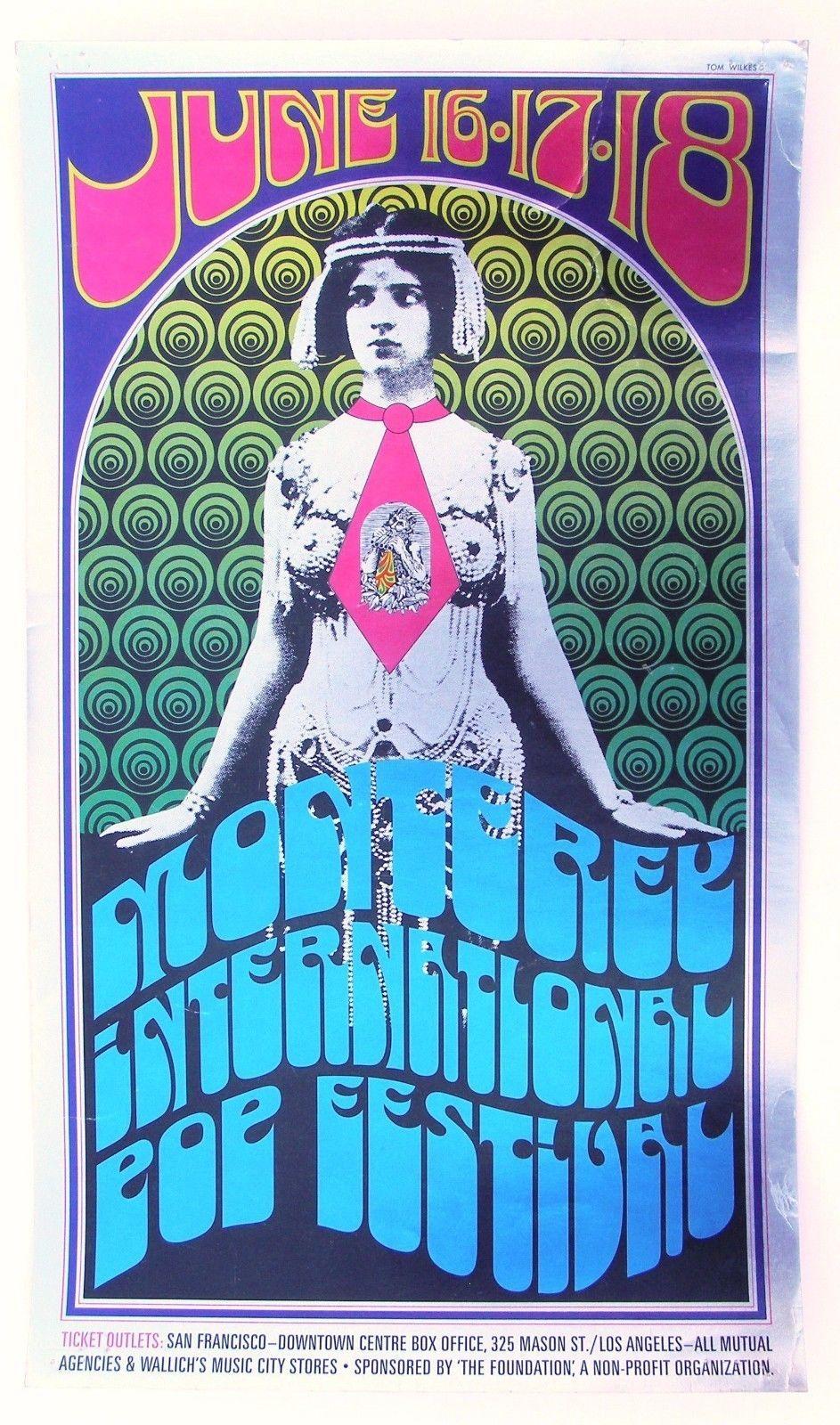 Monterey International Pop Festival 1967 concert poster
