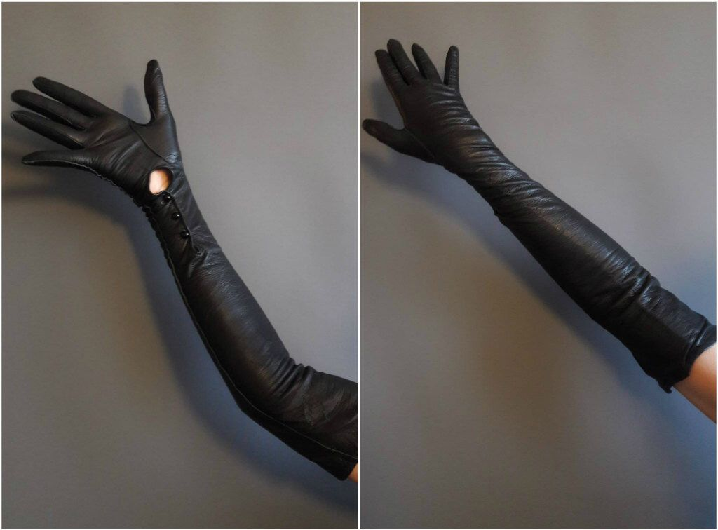 leather opera gloves Fetish