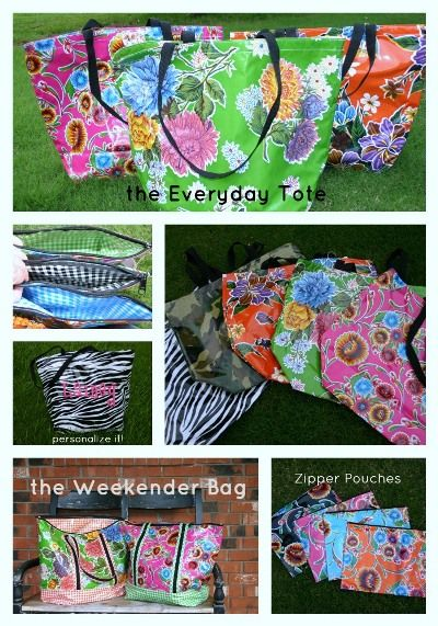 Oil Cloth Tote Bags | Oilcloth | Pinterest