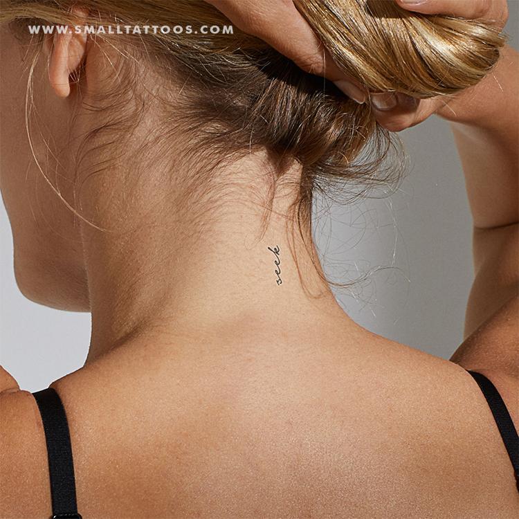 Seek Temporary Tattoo Set Of 3 Neck Tattoos Women Tattoo Set Tattoos