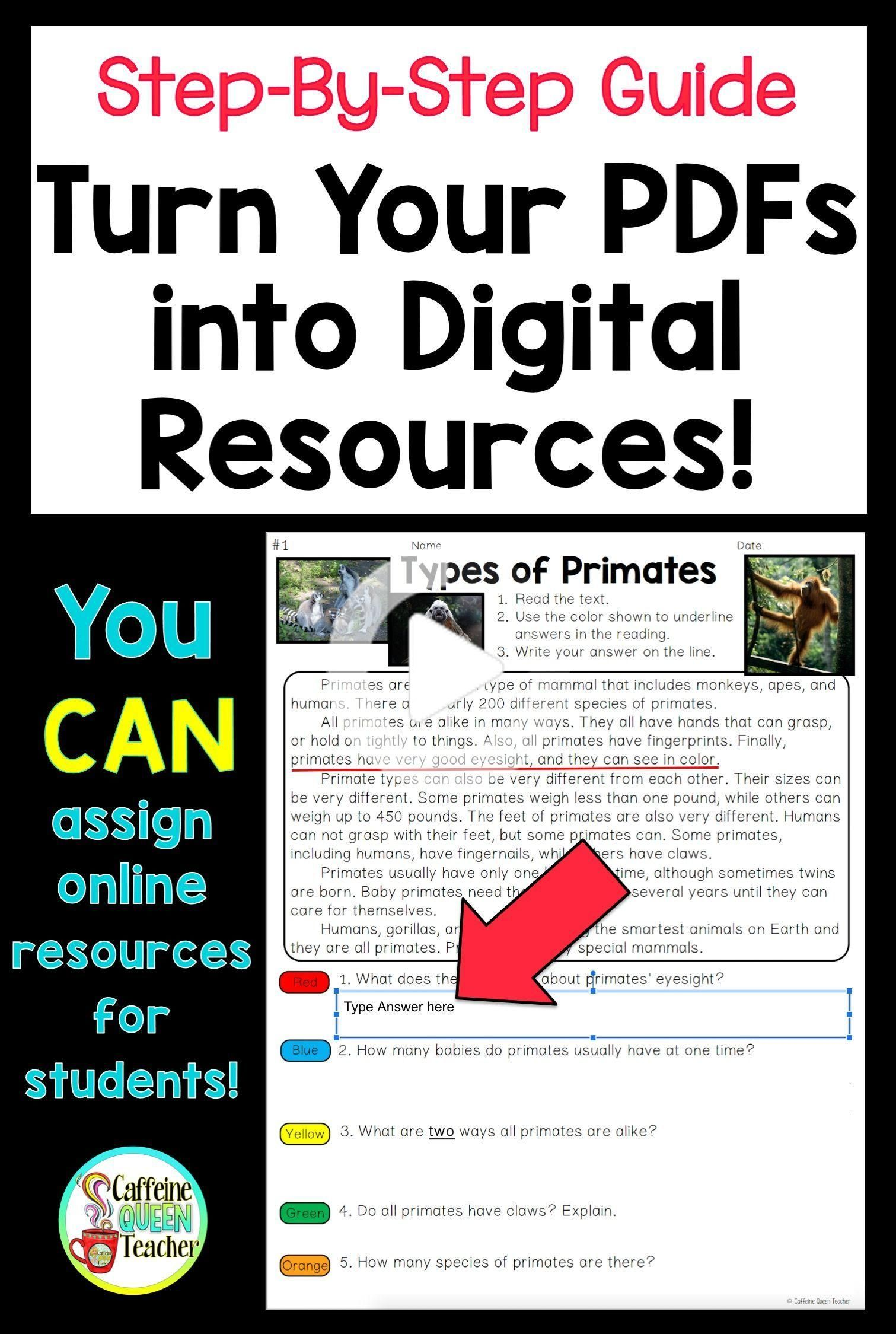 Turn A Worksheet Into A Digital Resource In