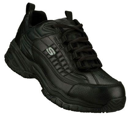 SKECHERS Mens Work Soft Stride Dexter Steel Toe Shoes