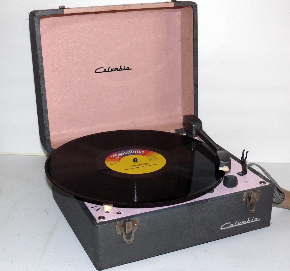 1950 39 S Columbia Vanity Style Portable Record Player