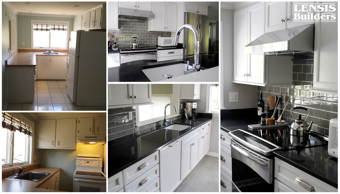 Before & After shots of a kitchen located in Manassas ...