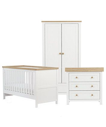 Mothercare Lulworth 3 Piece Nursery Furniture Set Clic White