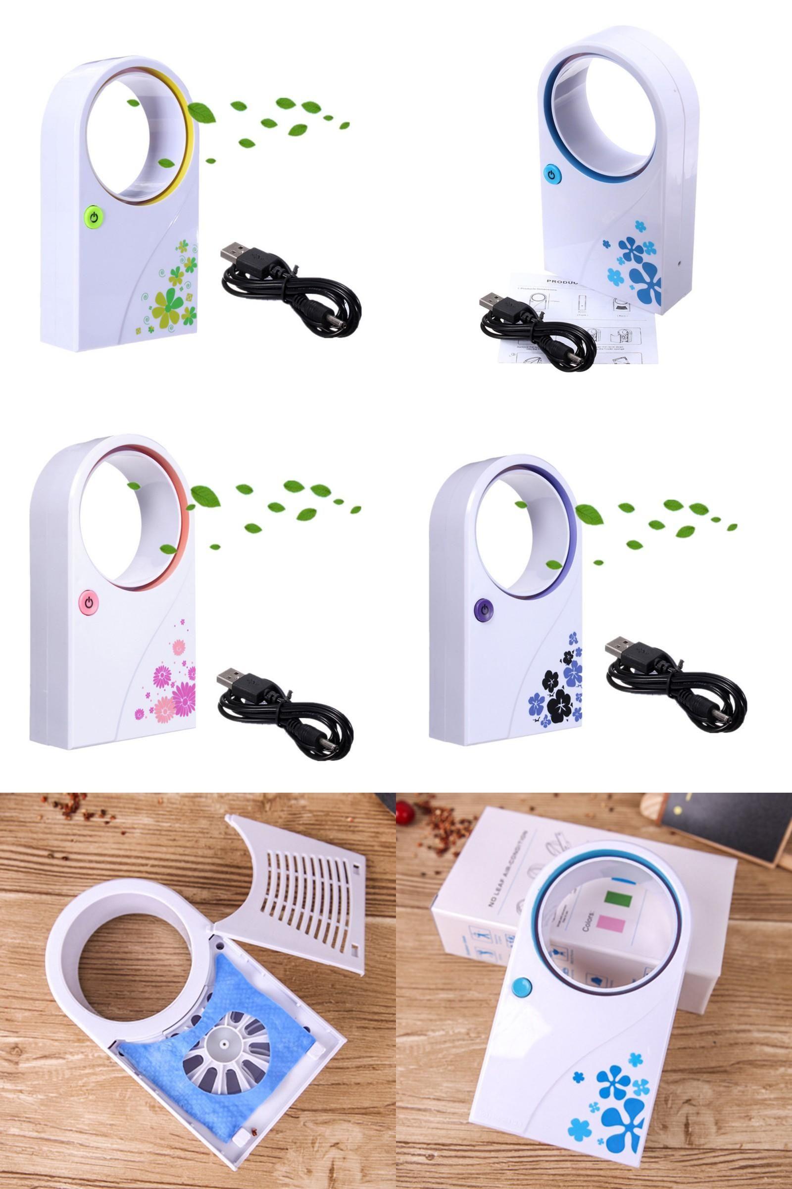 [Visit to Buy] New Arrival Mini Portable Fan No Leaf Fan