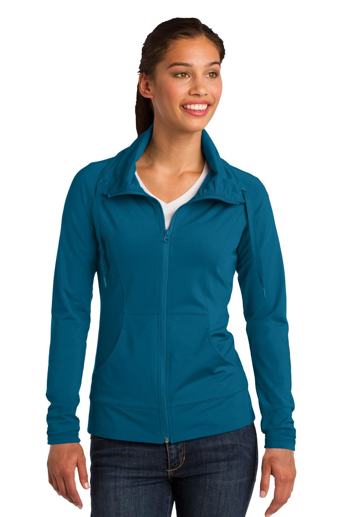 SportTek Ladies SportWick Stretch FullZip Jacket