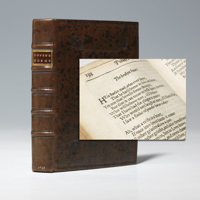 John Donne - Poems First Edition   Bauman Rare Books   Verse: Donne ...