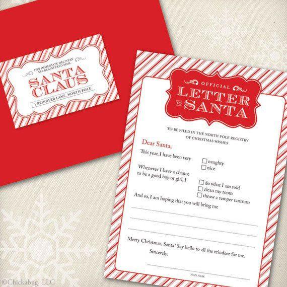 Original official letter to santa kit set of 4 cards red original official letter to santa kit set of 4 cards red envelopes and mailing labels spiritdancerdesigns Gallery