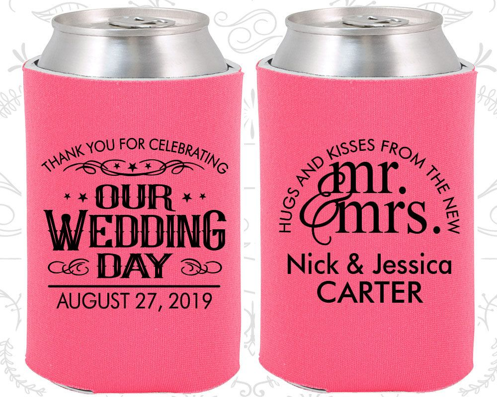 Unique Wedding Favors, Custom Can Cooler, Wedding Favors ...