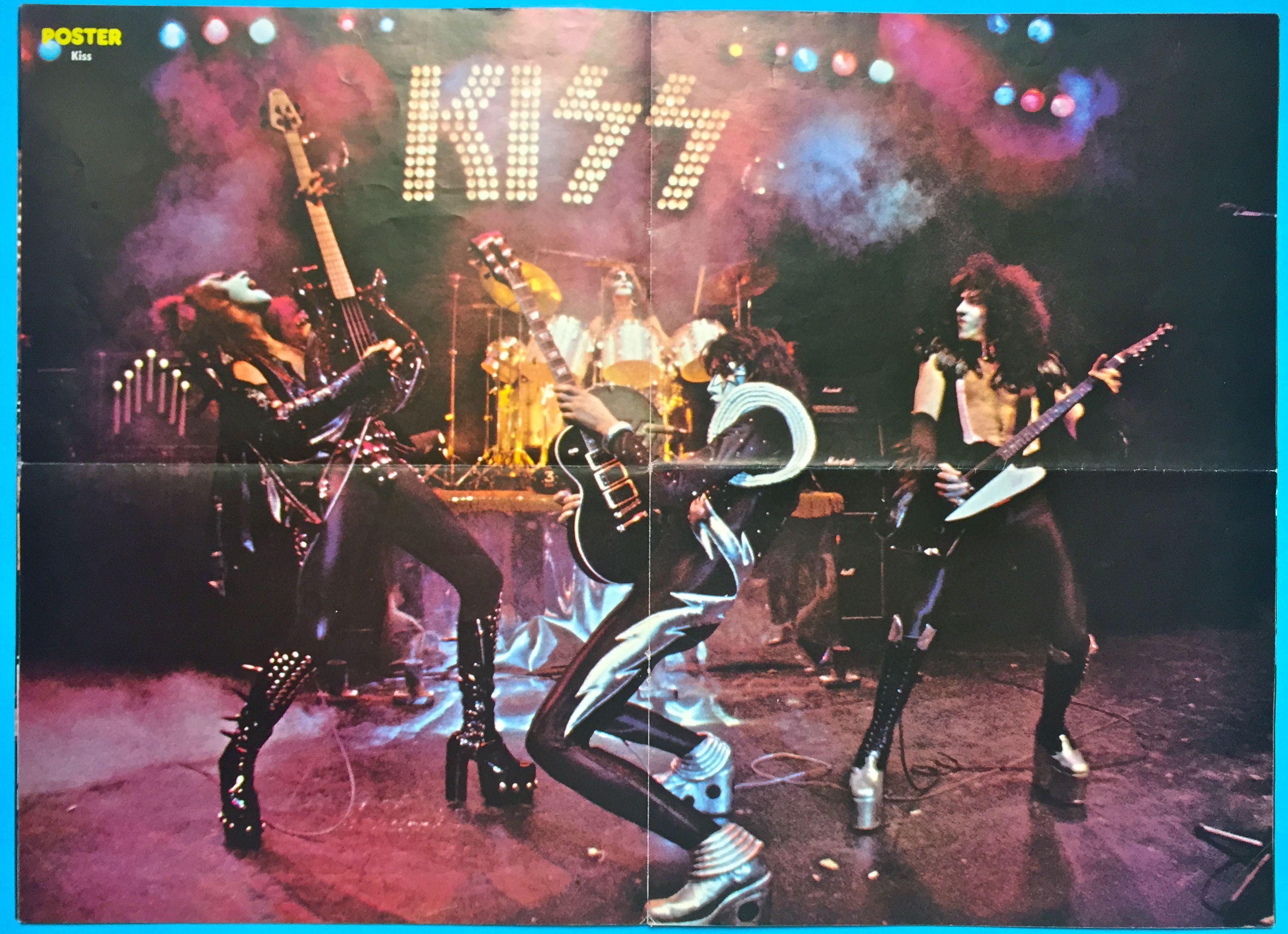 Nostalgipalatset Poster Mag No 1 1977 Abba Kiss Ac Dc Rush