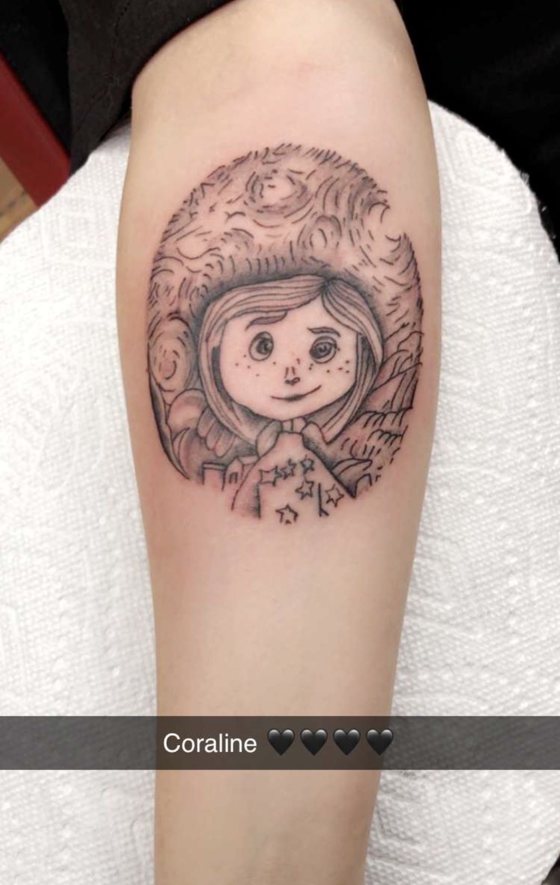 Cute Coraline Tattoo Forearm In 2020 Coraline Tattoo Tattoos Cool Tattoos