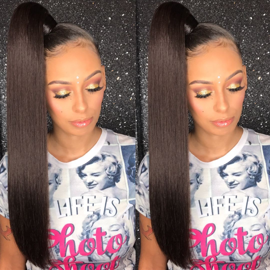 Iamgilbert27 Quickie Hairdos Pinterest Ponytail Black Girls