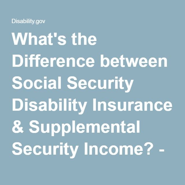 What's The Difference Between Social Security Disability