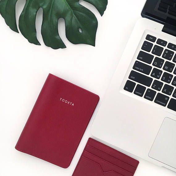 6ab8d0cf85b39 Monogram Passport- Personalized Leather Passport Holder - Passport ...