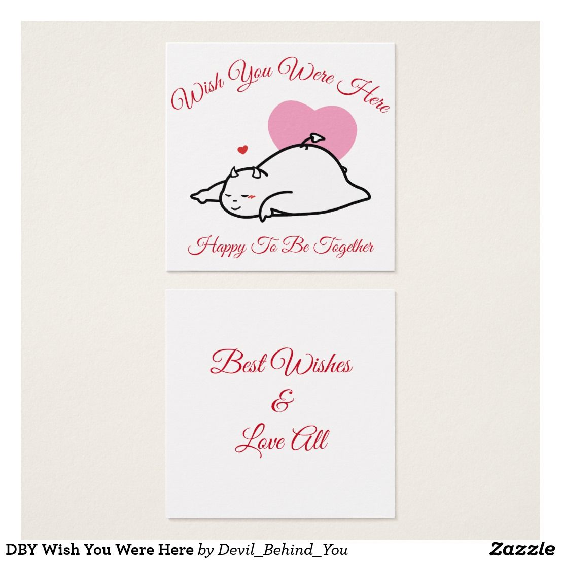 Dby Wish You Were Here Business Cards