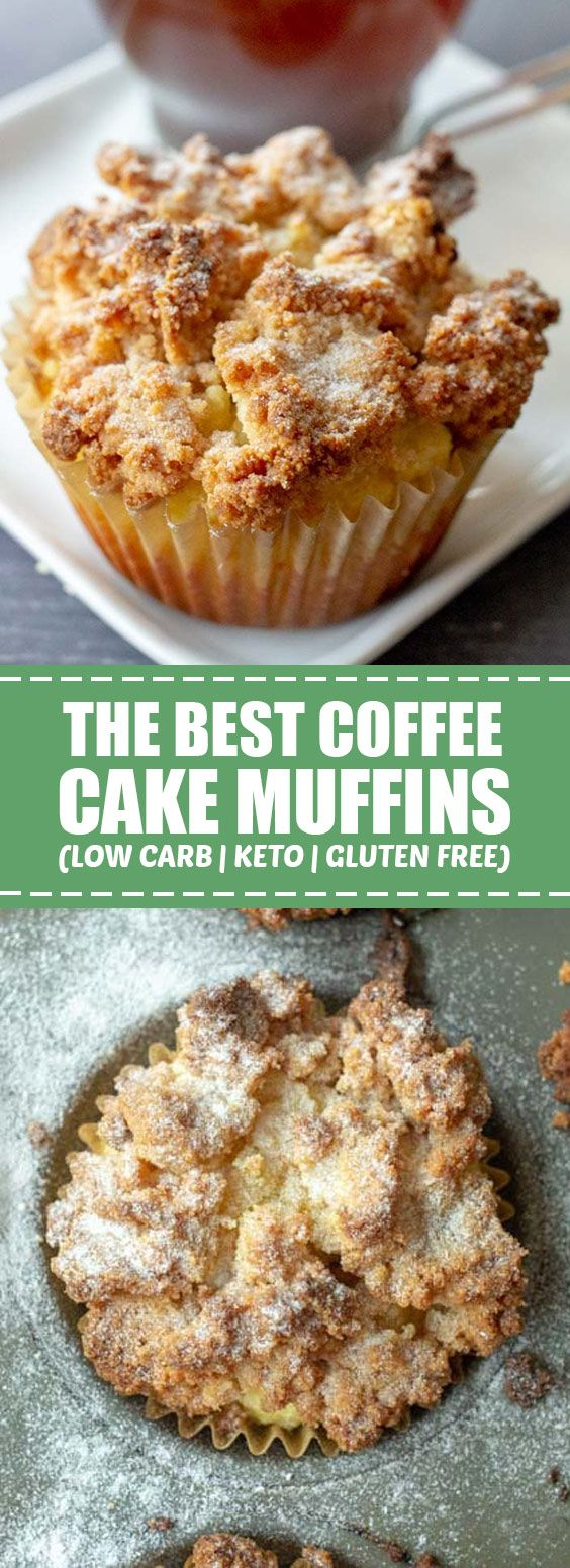 The Best Coffee Cake Muffins (Low Carb, Keto & Gluten Free