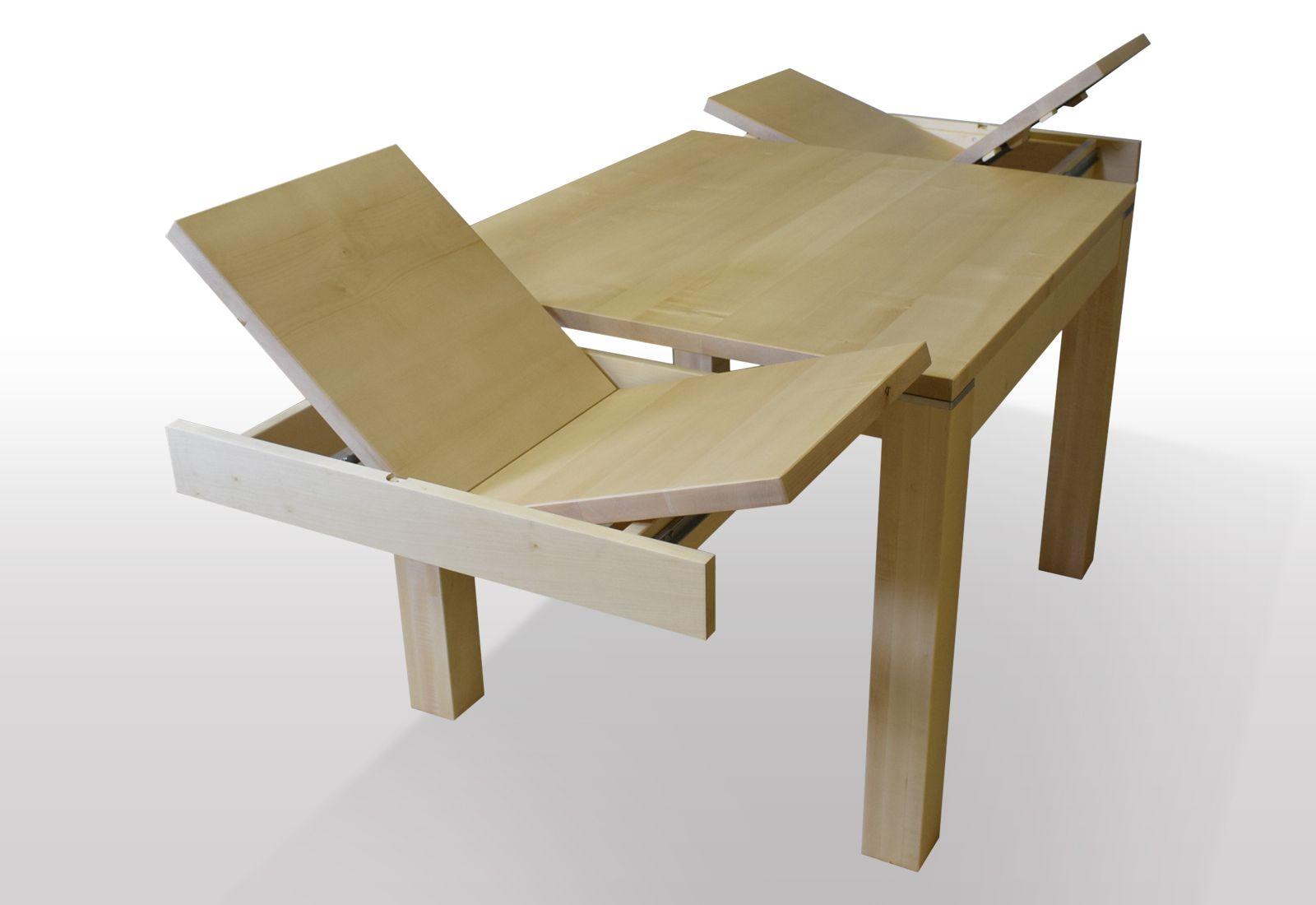 esstisch ahorn ausziehbar hier 2 mal kopfauszug mit integrierter butterfly technik esstische. Black Bedroom Furniture Sets. Home Design Ideas