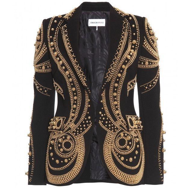 mytheresa.com - Emilio Pucci - VERZIERTER BLAZER - Luxury Fashion for Women / Designer clothing, shoes, bags ($500-5000) - Svpply