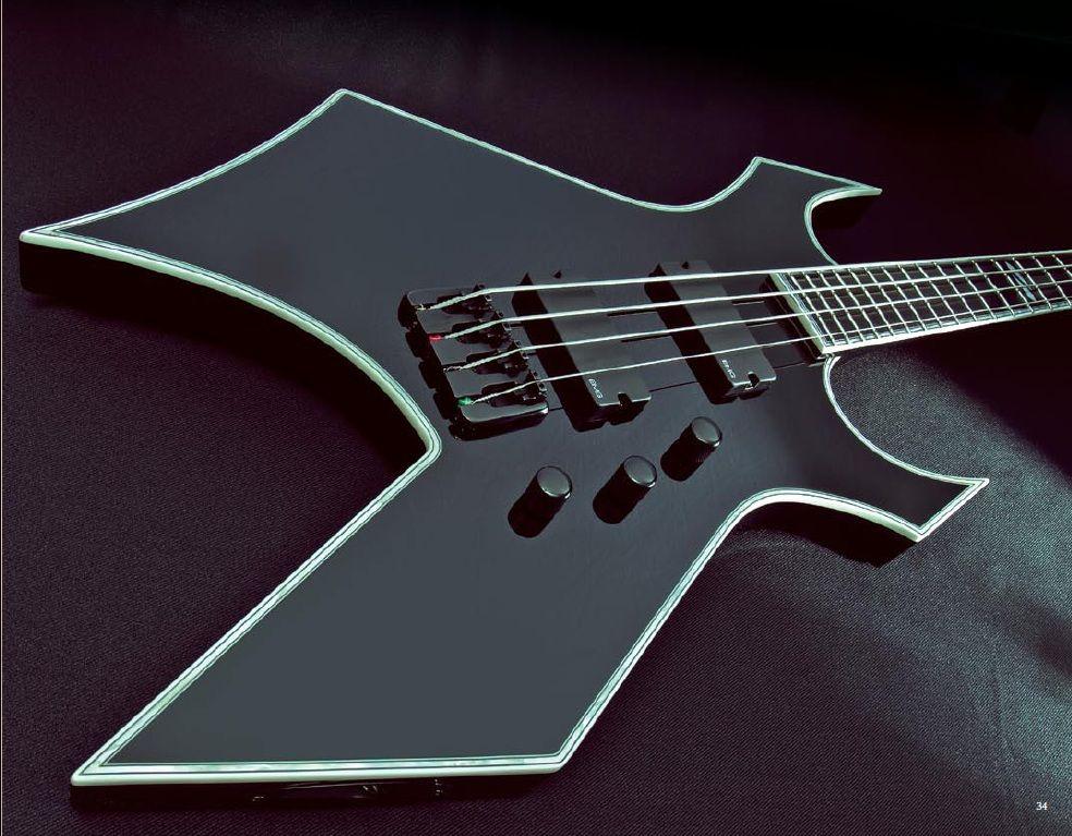 Bc Rich Warlock Nj Deluxe Guitar Bass Guitar Bass