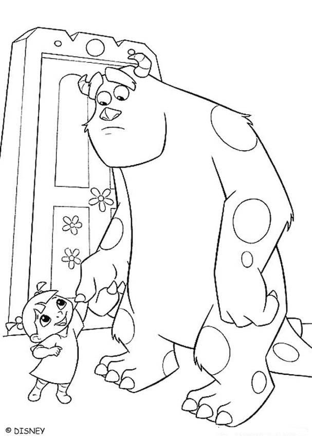 sully from monsters inc colouring pages : boo and sulley coloring ...