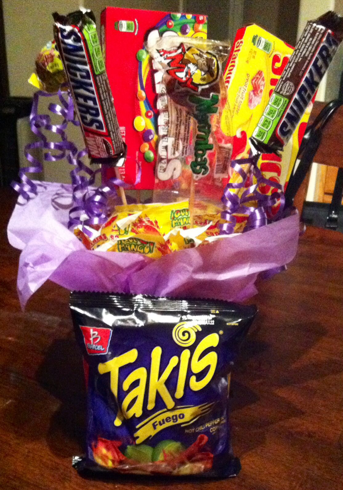 Takis And Candy Gift Arrangement Gifts And Stuff Candy Gifts