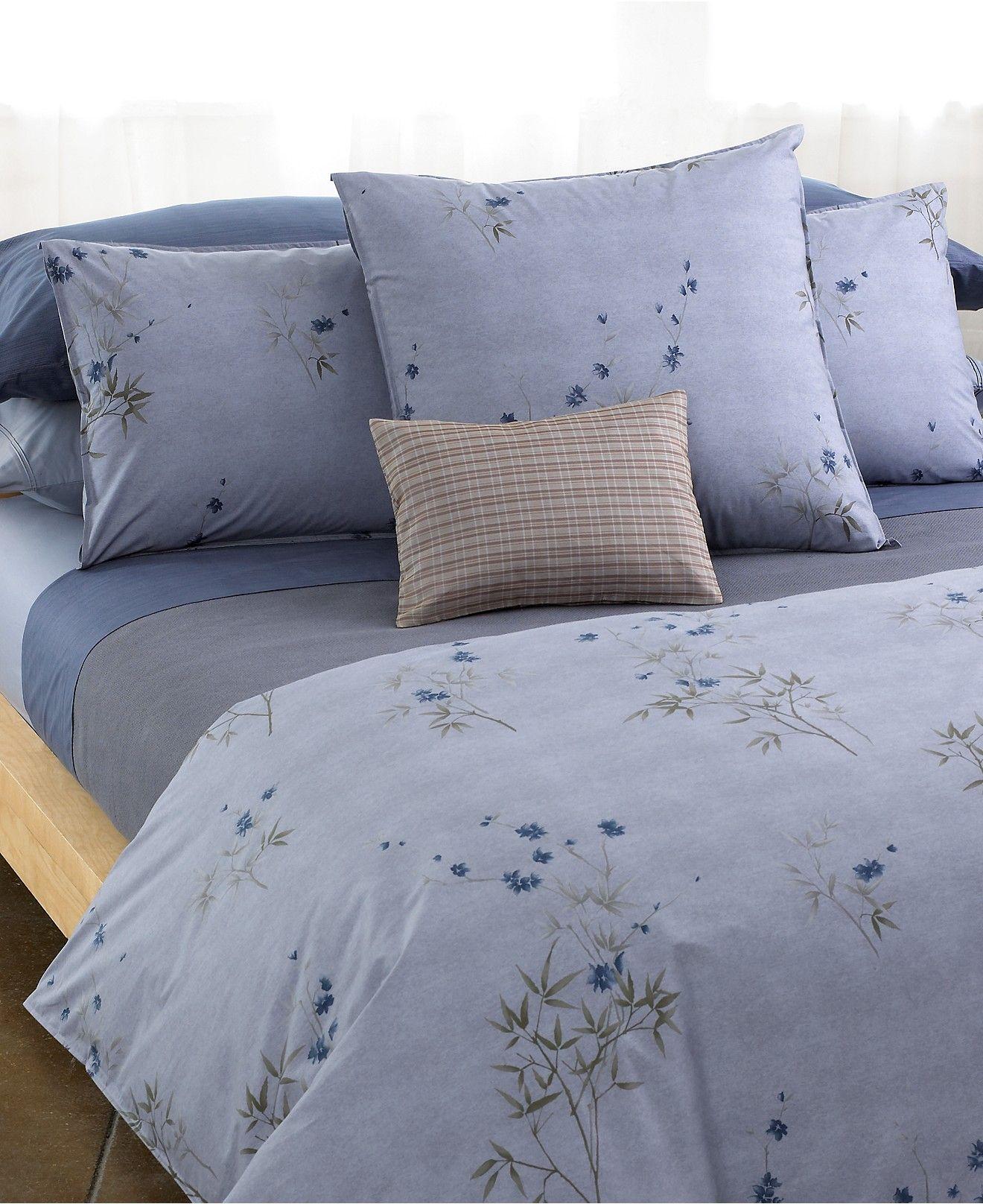 bath calvin klein bamboo flowers fullqueen comforter bedding collections bed u0026 bath