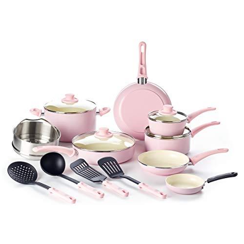 Amazon 10 Best Pink Kitchen Accessories 2020 Kitchen Bests Pink Kitchen Decor Pink Kitchen Cookware Set