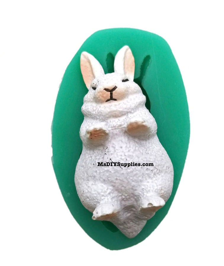 Fondant Chocolate Mold by MsDIYSupplies Candle Mould Plaster 3D Rabbit Silicone Mold-Cake Decoration Cement Polymer Clay Soap Resin