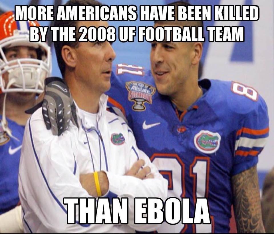 02a3357d9455acae6e58446e79c5b959 funny florida gator football meme aaron hernandez ebola meme