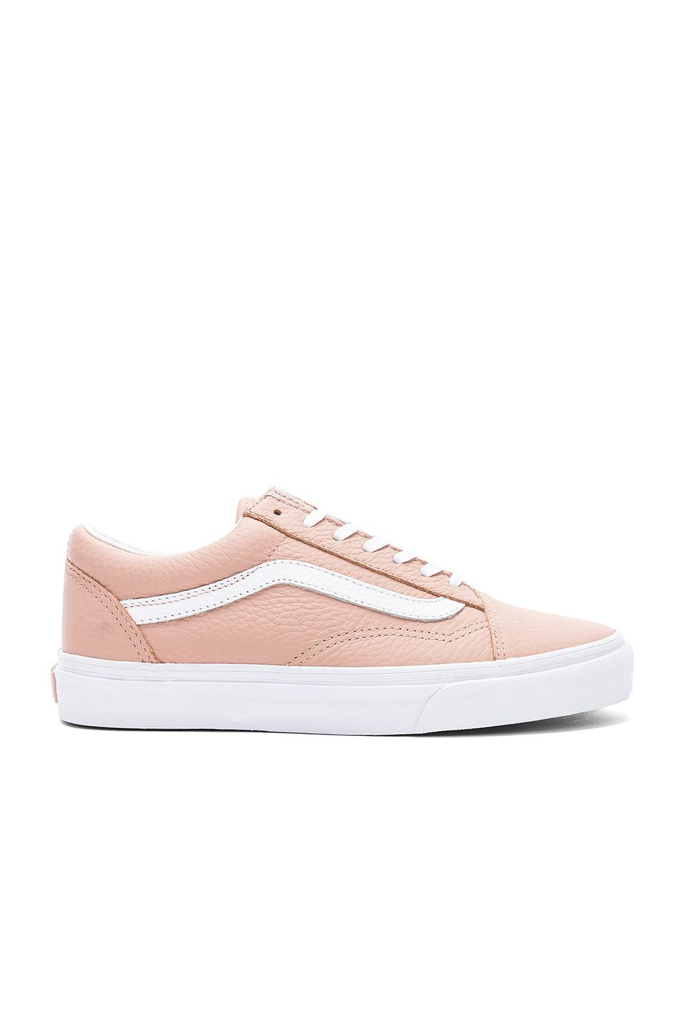 38f81027f02d7d Vans Tumble Leather Old Skool DX Sneaker in Mahogany Rose   True White