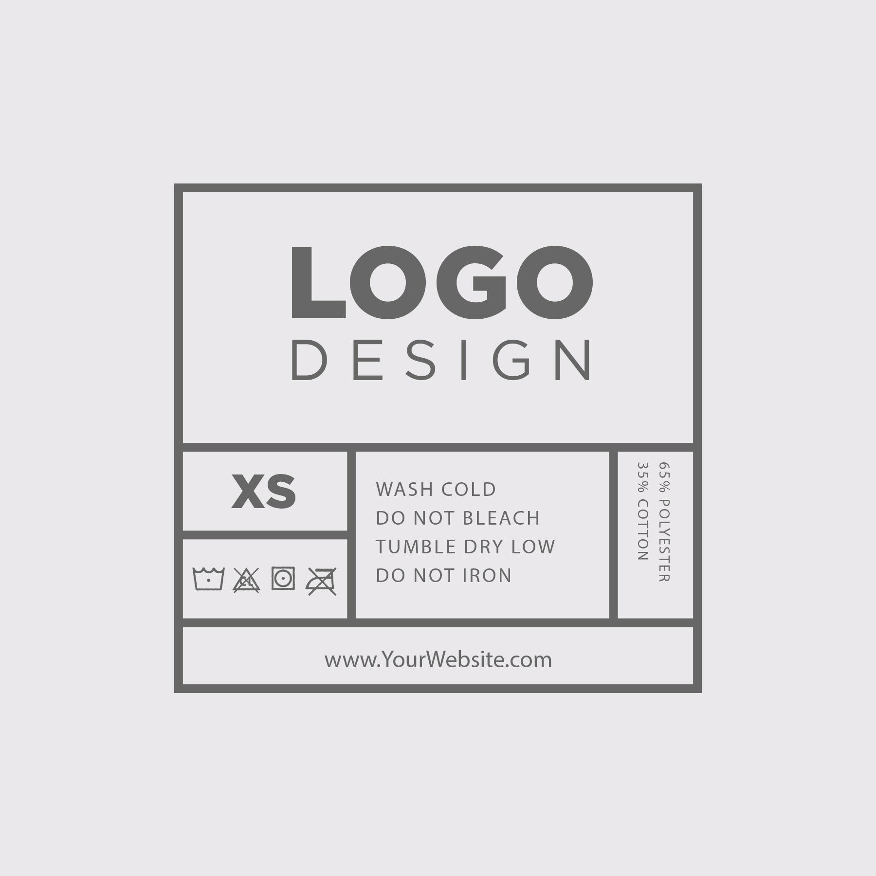 Choose From 14 Free Custom Screen Printed Tag Templates Separate Yourself From Your Competitors Clothing Labels Design Label Templates Custom Clothing Labels