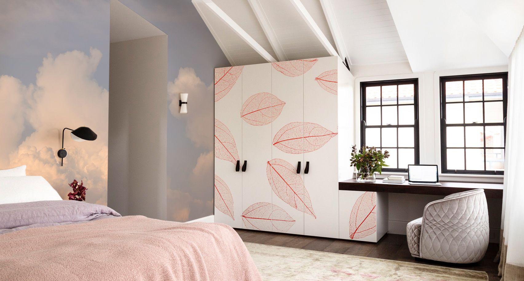 Rustig Bedroom • Scandinavisch - Slaapkamer - Fotobehang - Stickers ...