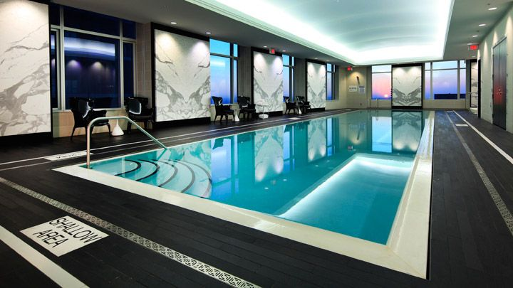 Indoor Pool At Trump Toronto Hotel Travel In Style Pinterest Indoor Pools Trump Toronto
