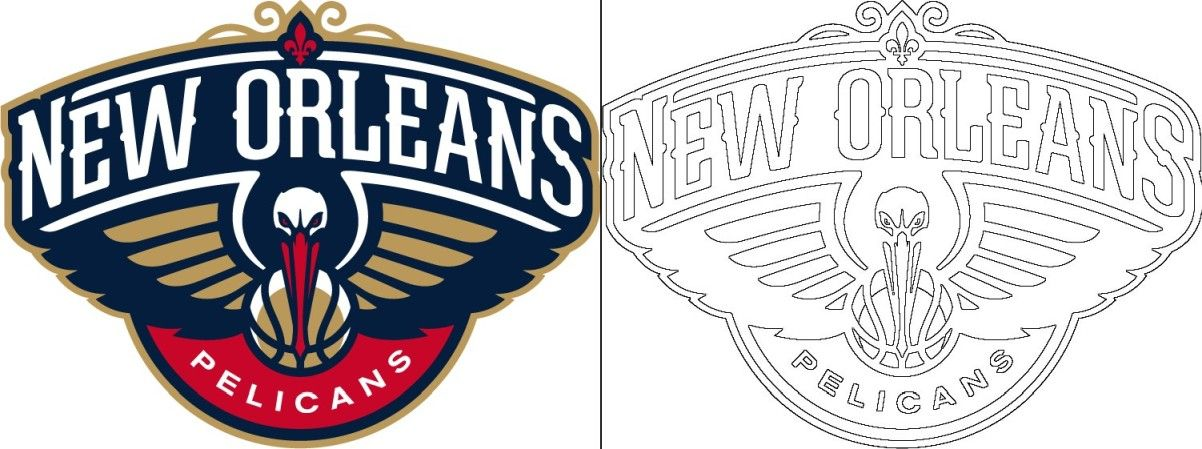 Pelicans logo coloring page in 2020 Coloring pages