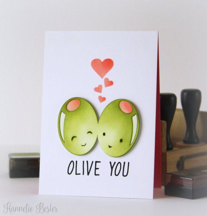 Download desert diva : Olive you! | Creative cards, Valentine ...