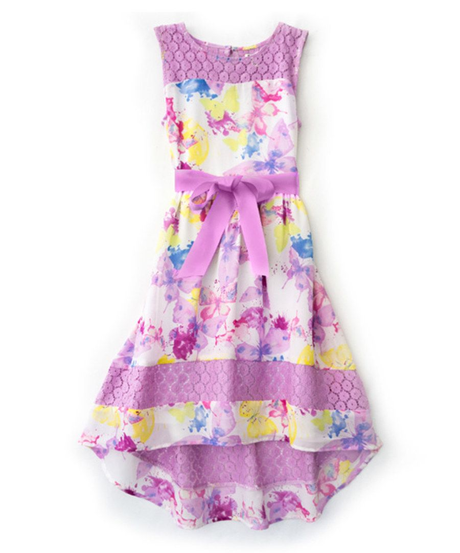 2b9a1003c46 Look at this RUUM Violet Tulle Lace Butterfly Dress - Toddler   Girls on   zulily today!