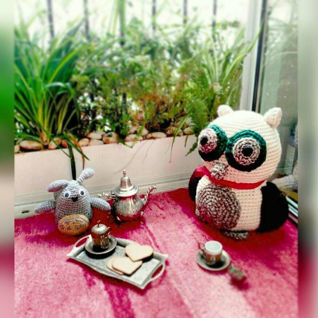 Invitiamo a gli amichi all'ora del #thè invitamos a los amigos a la hora del #té. #amigurumi by robertoggarcia