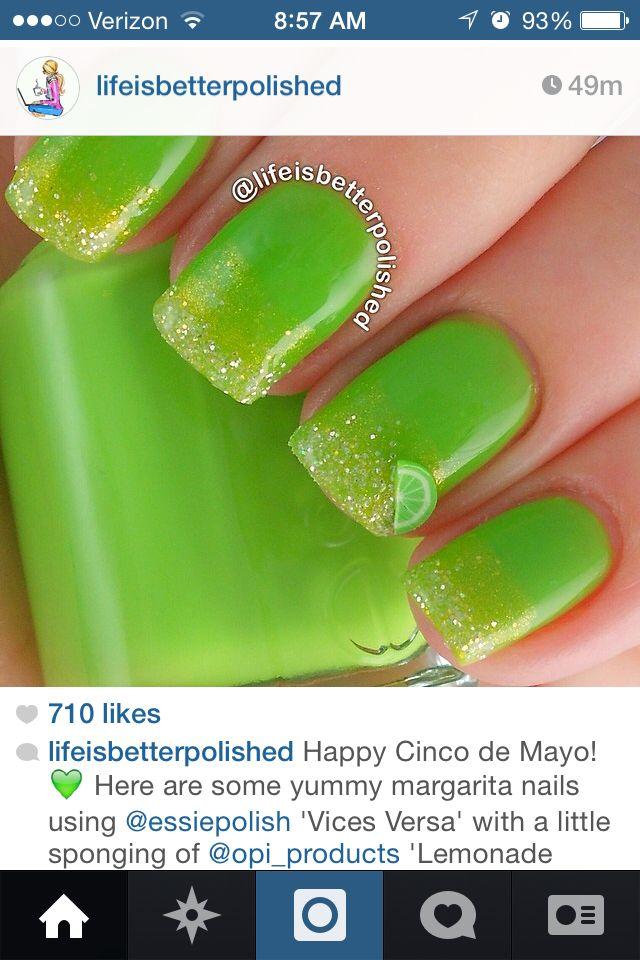 Margarita nails for 21st birthday! :)   Byooty   Pinterest ...